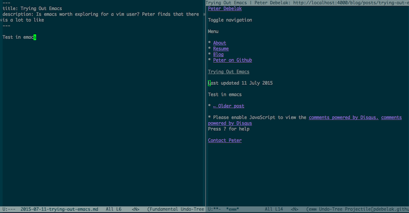 Editing and using the internet in emacs